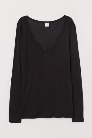 Airy Jersey Top - Black