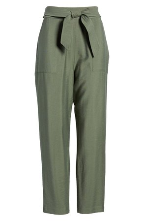 Leith Tie Waist Utility Pants | Nordstrom