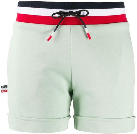 Striped-Waist Track Shorts