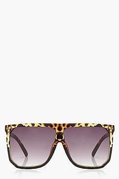 Tia Flat Top Oversized Sunglasses