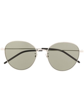 Saint Laurent Eyewear Round Frame Sunglasses - Farfetch