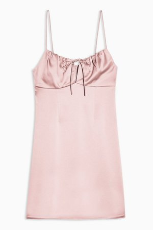 Pink Gathered Bust Slip Dress | Topshop