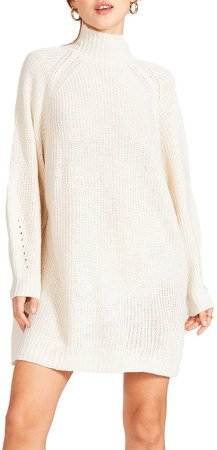 Sweater Mini Dress Cream