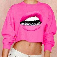 2018 Wholesale Echoine Short Sweatshirts Women Winter Black White Pink 3d Diamond Teeth Print Sweatshirt Sexy Casual O Neck Crop Top Hoodies From Octavi, $42.7   Dhgate.Com