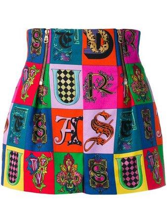 Versace printed short shorts