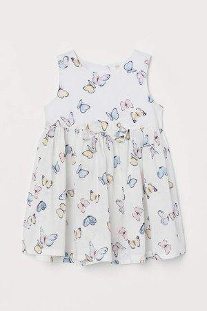 Circle-cut Dress - White
