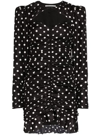 Alessandra Rich, polka dot ruched mini dress