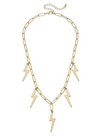 Canvas Jewelry Thunderbolt Chain Necklace | Nordstrom