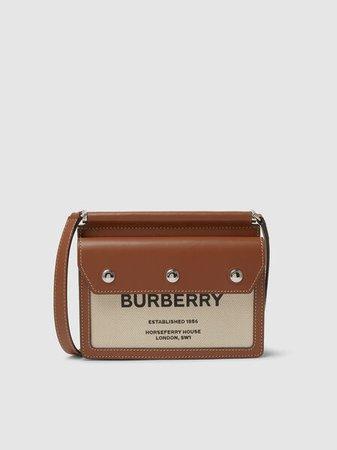 Burberry - Baby Pocket Logo Canvas Bag | The Modist