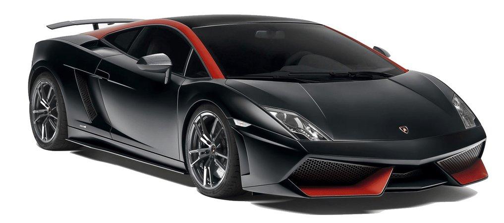 black + red Lamborghini