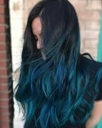 teal and black ombre hair - Google Search