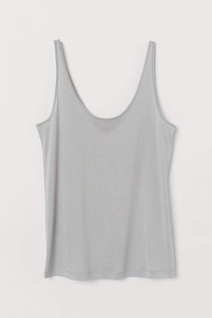 Silk-blend Camisole Top - Gray