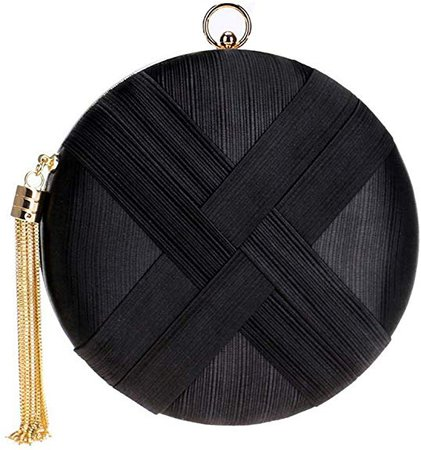 Tanpell Women's Evening Bags Tassel Pendant Silk Clutch Bag for Formal Party Bridal Wedding Black: Handbags: Amazon.com