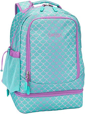 Amazon.com: Bentgo Kids Prints 2-in-1 Backpack & Insulated Lunch Bag - Durable, Lightweight, Colorful Prints for Girls and Boys, Water-Resistant Fabric, Padded Straps and Back with Large Compartments (Mermaid)
