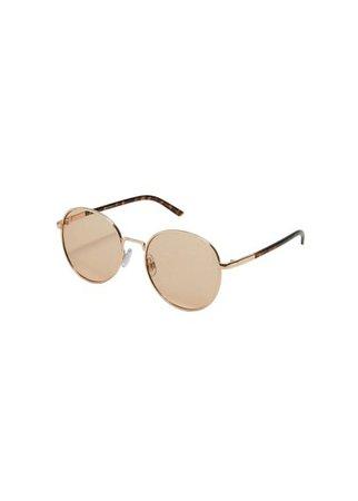 MANGO Rounded frame sunglasses