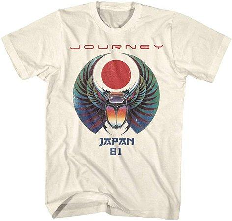 Journey Rock Band Music Group Scarab Beetle Logo Japan 1981 Adult T-Shirt Tee | Amazon.com