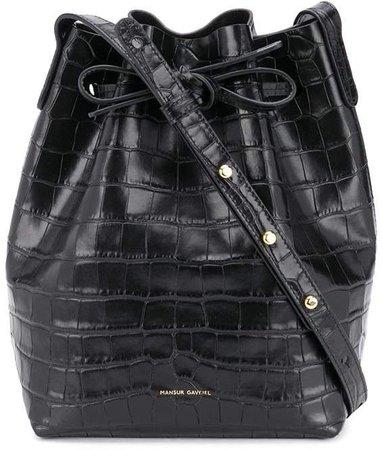 Crocodile-Effect Bucket Bag