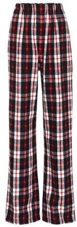 Balenciaga Plaid wool-blend pants