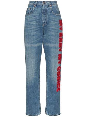 Gucci My Body My Choice Straight Leg Jeans - Farfetch