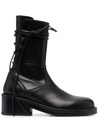 Ann Demeulemeester rear lace-up ankle boots black 21012853373099 - Farfetch