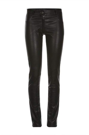 ELLESD - Black Leather Stretch Pants