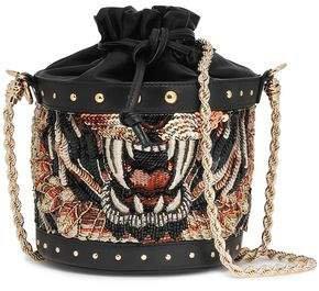 Embellished Leather Bucket Bag