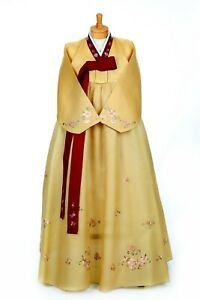 Gold and Red Hanbok 1