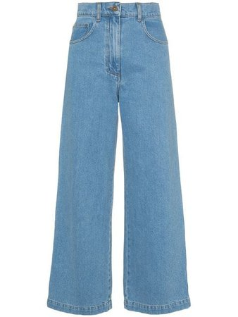 Nanushka Marfa 90s high-waisted straight leg jeans $300 - Shop SS19 Online - Fast Delivery, Price