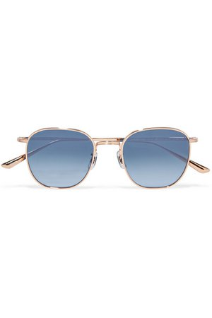 The Row | + Oliver Peoples Board Meeting square-frame titanium sunglasses | NET-A-PORTER.COM