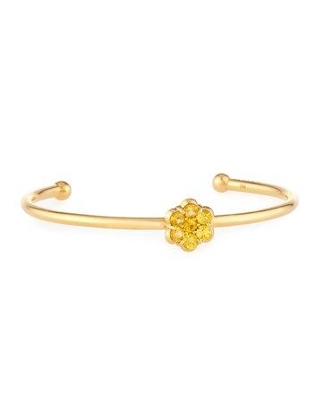 Bayco 18K Gold & Yellow Sapphire Floral Bracelet