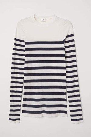 Striped Top - White