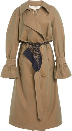 By Any Other Name Belted Gabardine Trench Coat