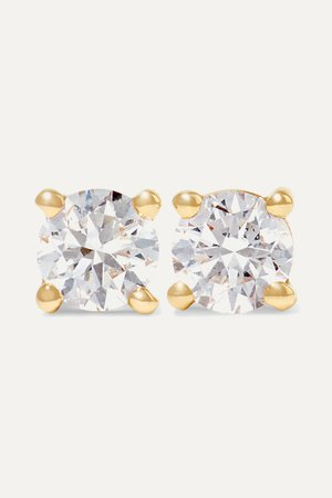 Gold 18-karat gold diamond earrings | Anita Ko | NET-A-PORTER