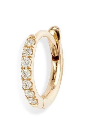 Zoë Chicco Pavé Diamond Huggie Hoop Earring | Nordstrom