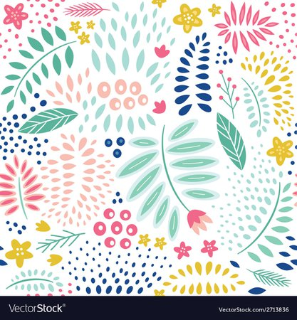 Seamless abstract floral pattern Royalty Free Vector Image