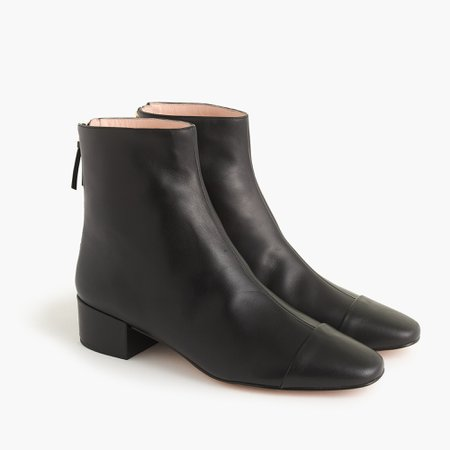J.Crew: Cap-toe Ankle Boots For Women