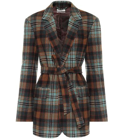 Checked Wool-Flannel Belted Blazer | Co - Mytheresa