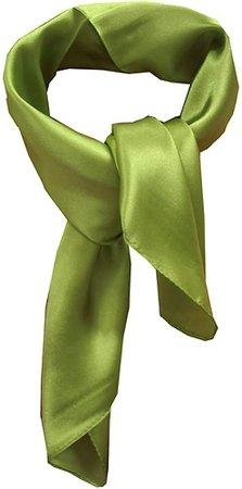 Silk square scarf pure color head scarf blend neckerchief (sage) at Amazon Women's Clothing store