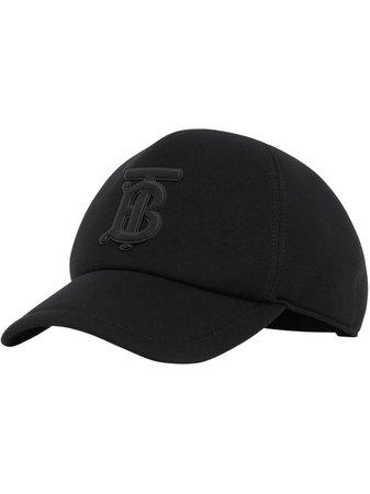 Black Burberry Monogram Motif Baseball Cap For Women | Farfetch.com