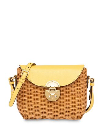 Miu Miu structured wicker shoulder bag