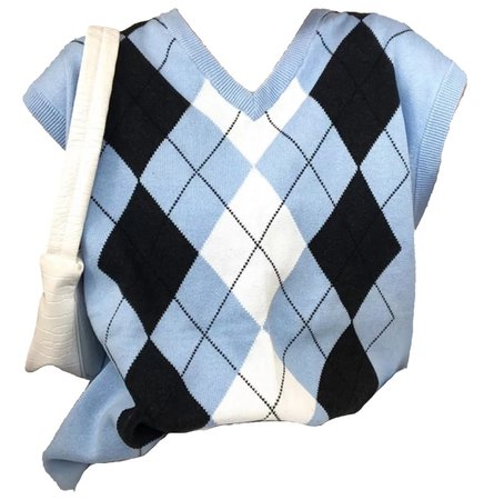 baby blue argyle sweater vest
