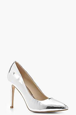 Leah Mirror Metallic Pointed Toe Courts