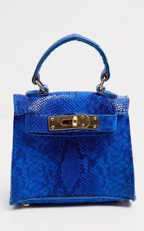 Blue Snake Print Mini Bag | Accessories | PrettyLittleThing USA