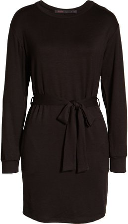 Tie Waist Long Sleeve Dress