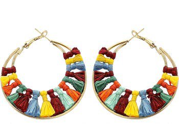 Tassel Hoop Earrings | Nordstrom