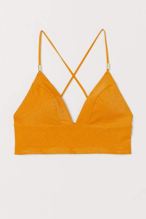 Padded Triangle Bikini Top - Orange