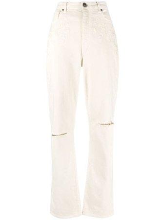 Etro high-waisted Straight Leg Jeans - Farfetch