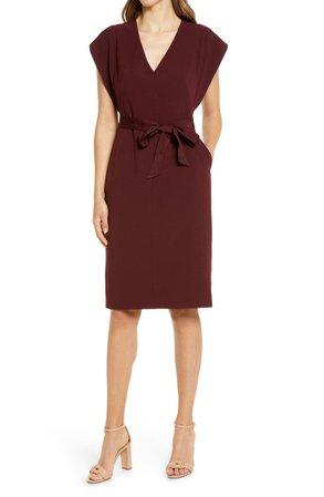 Ruffle Sleeve Sheath Dress | Nordstrom