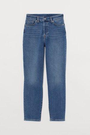 Mom High Ankle Jeans - Azul denim/Lavado - SENHORA | H&M PT