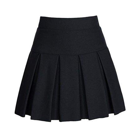 Angelliu Women Lady Plus Size Pleated Skirt Anti-exposure School
